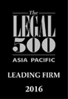 Legal 500 Asia Pacific Leading Firm